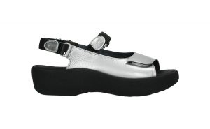 Wolky 0320461.130 Jewel Silver Naplack Metallic Sandal.  Sizes - 37 to 41   Price - £110.00  SALE £89.00