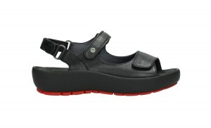 Wolky 0332520.000 Rio Black Leather Sandal     Sizes - 38, 42     Price - £115.00  SALE £95.00
