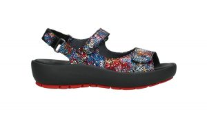 Wolky 0332540.970 Rio Black Crash Multi Sandal    Sizes - 38, 40     Price - £115.00  SALE £95.00