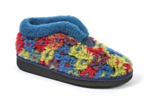 Moshulu 150012 California Navy multi Boot Slipper.   Sizes - 37 to 42   Price - £35.00