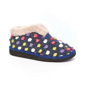 Moshulu 150008 Bo Indigo Boot Slipper.   Sizes - 37 to 41  Price - £35.00