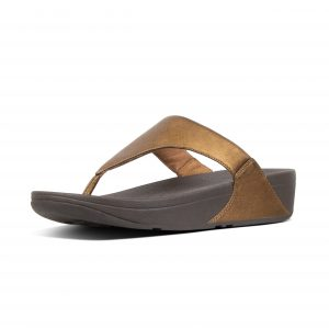 FitFlop I88-012 Lulu Bronze Leather Toepost.    Sizes - 5 to 8    Price - £55.00  SALE £49.00