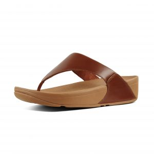 FitFlop I88-552 Lulu Cognac Leather Toepost.   Sizes - 4 to 8   Price - £55.00  SALE £49.00