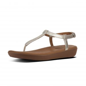 FitFlop L36-011 Tia Silver Toe Thong Sandal.   Sizes - 4 to 7   Price - £65.00  SALE £55.00