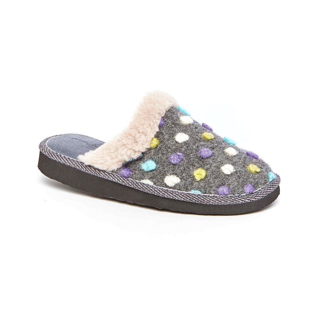 Moshulu Malia 2 Slate slide slipper.  Sizes - 37 only.  Price - £32