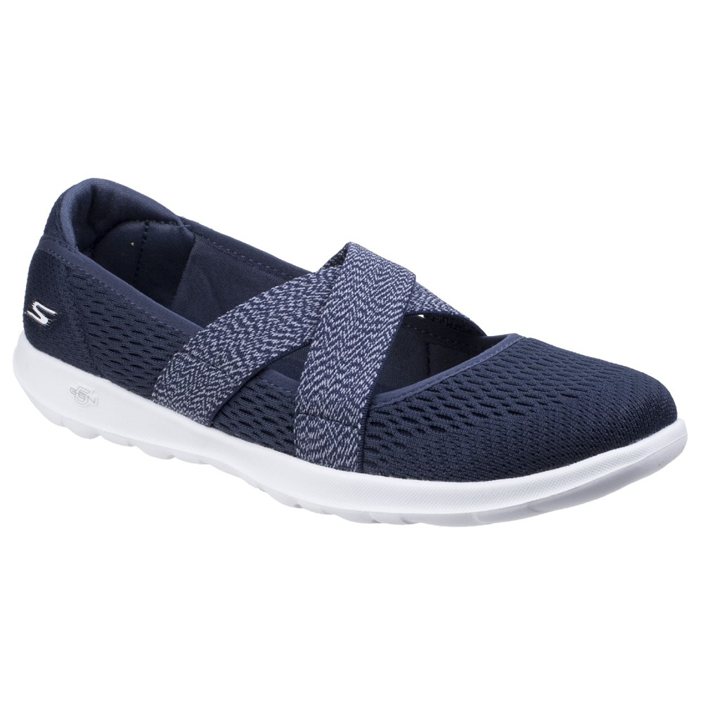Skechers SK15407 Navy Cross Elastic Strap Pump.  Size - 3 only.    Price - £59 Now £39