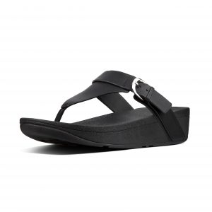 FitFlop T18-001 Edit Black Leather Toepost.  Size - 4 to 7   Price - £75.00  SALE £65.00