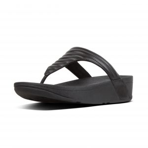 FitFlop T76-001 Lottie Black Padded Toepost.   Sizes - 4 to 7   Price - £60.00 SALE £55.00