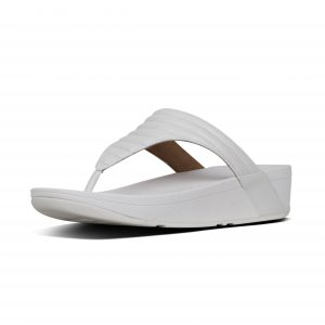 FitFlop T76-194 Lottie Urban White Padded Toepost.  Sizes - 3 to 7    Price - £60.00  SALE £55.00