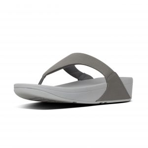 FitFlop U04-054 lulu Pewter Shimmer Toepost.   Sizes - 4 to 7    Price - £55.00  SALE £49.00
