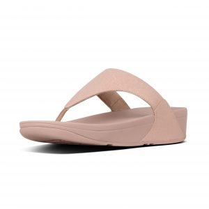 FitFlop U04-323 Lulu Rose Gold Shimmer Toepost.   Sizes - 4 to 7    Price - £55.00  SALE £49.00