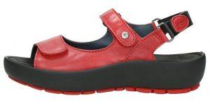 Wolky 0332520.500 Rio Red Leather Sandal.   Sizes - 38 only    Price - £115.00  SALE £95.00