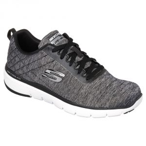 Skechers Mens SK52956 Flex 3 Black/ white.  Sizes - 7 to 11  Price - £67.00