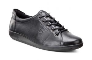 Ecco 206503 Soft 2 Black lace shoe Sizes 36 to 43 Price - £85.00