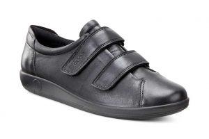 Ecco 206513 Soft 2 Black velcro Strap shoe Sizes - 37 to 41 Price - £85.00