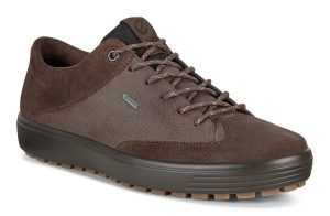 Ecco Mens 450104 Soft 7 Tred Coffee waterproof lace shoe Sizes - 41 to 45 Price - £130.00 NOW £109.00