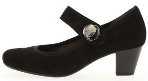 Gabor 05.487.17 Nola Black suede bar shoe Sizes - 4.5 to 7 Price - £89.00 NOW £79.00
