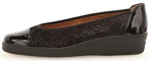 Gabor 36.402.17 Petunia Black patent multi wedge shoe Sizes - 4.5 to 8 Price - £65.00 NOW £55.00