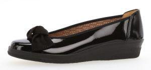 Gabor 36.403.67 Lesley Black patent Bow wedge shoe Sizes - 4.5 to 8 Price - £65.00 NOW £55.00