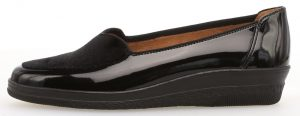 Gabor 36.404.27 Blanche Black patent velour wedge shoe Sizes - 4 to 7 Price - £69.00