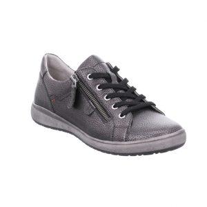 Josef Seibel Caren 12 Anthracite metallic lace zip shoe Sizes - 37 to 42 Price - £89.00 NOW £79.00