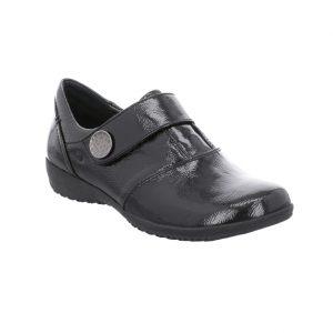 Josef Seibel Naly 21 Black patent velcro strap shoe Sizes - 37 to 41 Price - £85.00 NOW £75.00