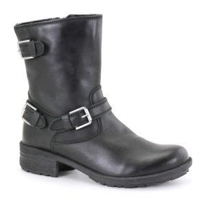 Josef Seibel Sandra 30 Black buckles zip Mid boot Sizes - 37 to 41 Price - £110.00 NOW £95.00