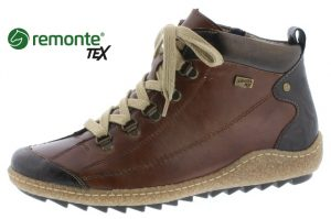 Remonte R4779-25 Brazil nut waterproof lace zip boot  Sizes - 37 to 41  Price - £75.00 NOW £65.00