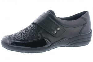 Remonte R7632-02 Black stretch side velcro shoe  Sizes - 37 to 42  Price - £65.00 NOW £55.00