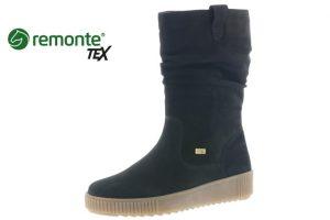 Remonte R7990-02 Black nubuck waterproof zip boot  Sizes - 37 to 41  Price - £79.00 NOW £59.00
