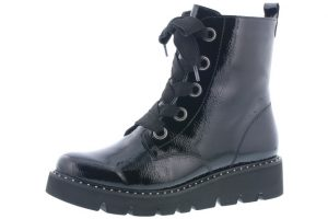 Remonte R8073-02 Black patent lace zip boot  Sizes - 37 to 41  Price - £72.00 NOW £59.00