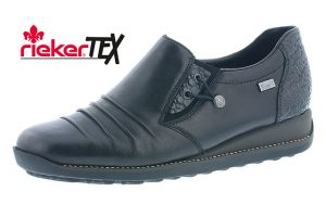 Rieker 44254-00 Black waterproof elastic casual shoe Sizes - 37 to 42  Price - £67.00 NOW £59.00