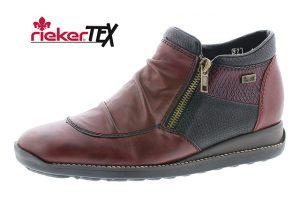 Rieker 44280-35 Wine black waterproof zip boot Sizes - 37 to 42 Price - £75.00 NOW £65.00