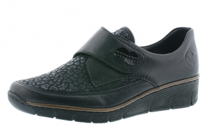 Rieker 537C0-00 Black wedge shoe Sizes - 36 to 42 Price - £55.00 NOW £49.00