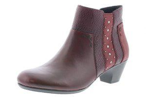 Rieker 70571-35 Wine stud zip boot Sizes - 37 to 41 Price - £65.00 NOW £55.00