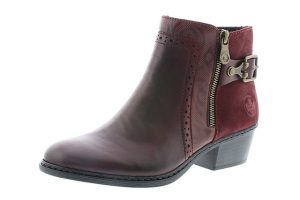 Rieker 75585-30 Wine buckle zip boot Sizes - 37 to 42 Price - £67.00 NOW £59.00