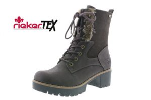 Rieker 96414-25 Dark Coffee lace zip boot Sizes - 37 to 41 Price - £72.00 NOW £65.00