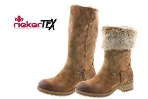 Rieker 96854-24 Tan fur waterproof zip boot Sizes - 37 to 41 Price - £75.00 NOW £65.00