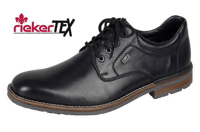 Rieker B1312-00 Black Tex  lace shoe   Sizes - 42, 43 and 45.  Price - £72 Now £49