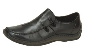 Rieker L1751-00 Black elastic side casual shoe Sizes - 37 to 42 Price - £59.00 NOW £55.00