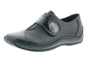 Rieker L1760-00 Black velcro strap shoe Sizes - 37 to 42 Price - £59.00 NOW £55.00