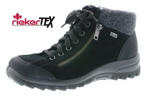 Rieker L7132-01 Black waterproof lace zip boot Sizes - 37 to 42 Price - £67.00 NOW £59.00