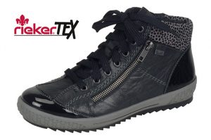 Rieker M6143-01 Black waterproof zip lace boot Sizes - 37 to 42 Price - £69.00 NOW £59.00