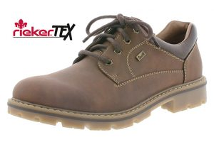Rieker Mens 14020-26 Toffee Tan Waterproof lace shoe Sizes - 41 to 45 Price - £65.00 NOW £55.00