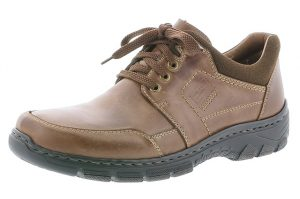 Rieker Mens 19911-25 Dark tan lace shoe Sizes - 40 to 45 Price - £72.00 NOW £65.00