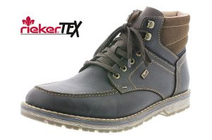 Rieker Mens 39220-26 Brown combi lace zip boot Sizes - 41 to 46 Price - £87.00 NOW £79.00