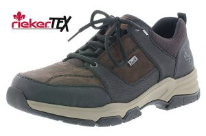 Rieker Mens B4313-01 Black brown waterproof lace shoe Sizes - 41 to 45 Price - £79.00 NOW £69.00
