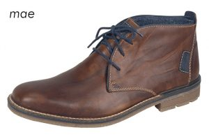 Rieker Mens F1310-25 Chestnut navy lace boot Sizes - 41 to 46 Price - £79.00 NOW £69.00