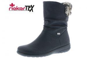 Rieker X0680-00 Black fur waterproof mid zip boot  Sizes - 37 to 41  Price - £65.00 NOW £55.00