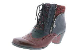 Rieker Y7211-35 Navy Wine lace zip heel boot Sizes - 37 to 41 Price - £67.00 NOW £59.00